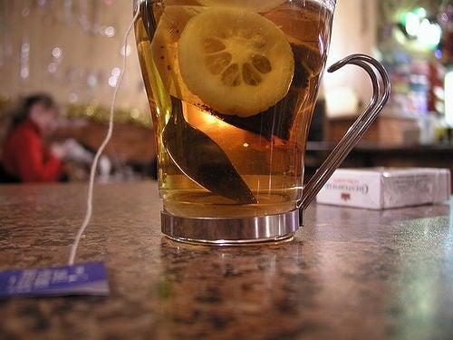eau avec citron
