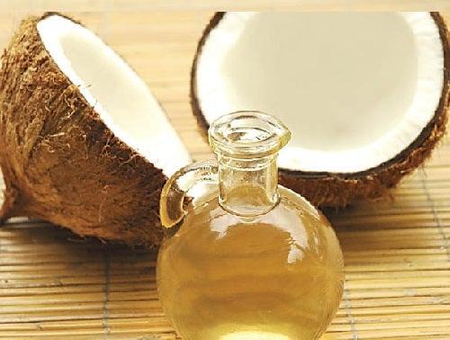 masque pour cheveux à l'huile de noix de coco