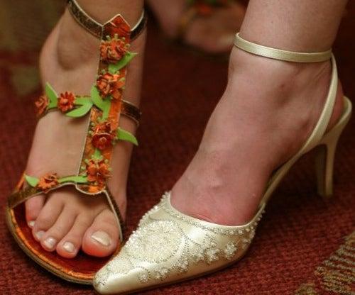 chaussures avec talons et sandales