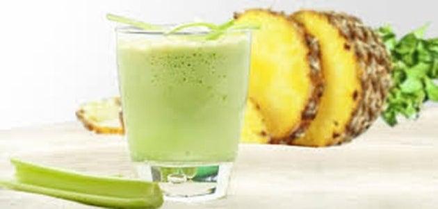 Boissons vertes : excellentes pour brûler les graisses : Céleri et ananas