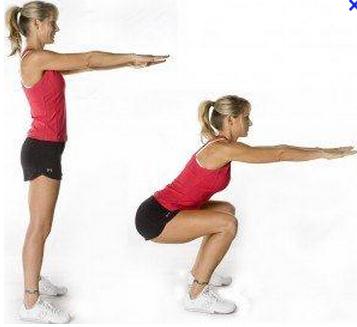 Flexion sur jambes pour diminuer son tour de taille.
