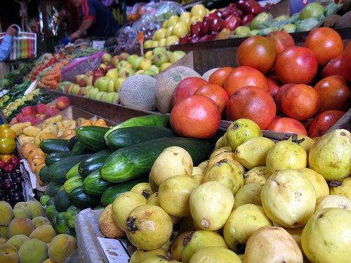 Fruits et légumes pour une alimentation saine.