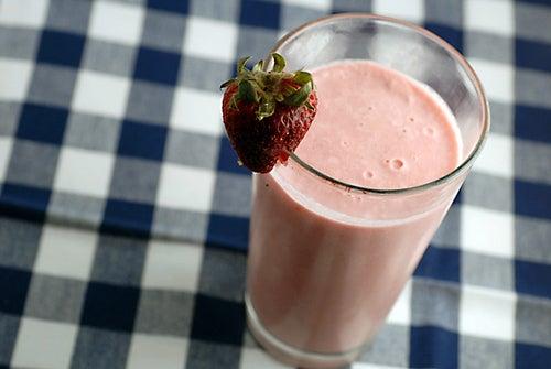 milk-shake de fraise