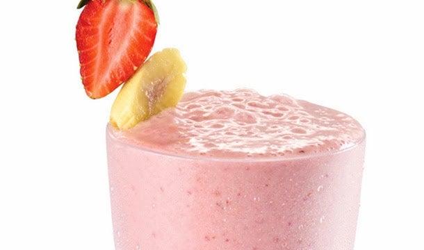 Milk-shakes aux fruits.