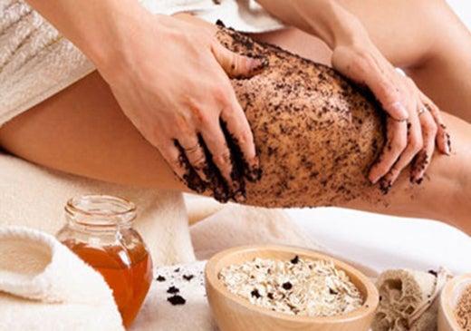 massages amincissants avec du cafe