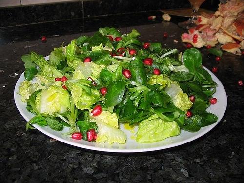 Recettes végétariennes de la salade.