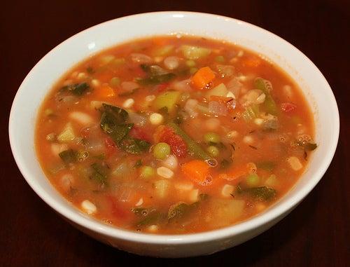 Quatrième recette de soupe aux légumes.