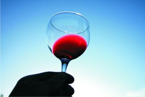 Les boissons naturelles : le vin rouge.