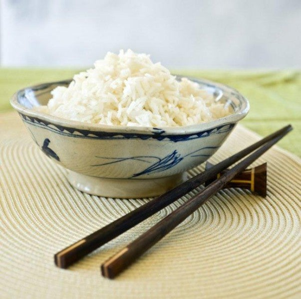 riz dans un bol