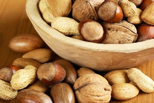 Fruits secs parmi les aliments sains