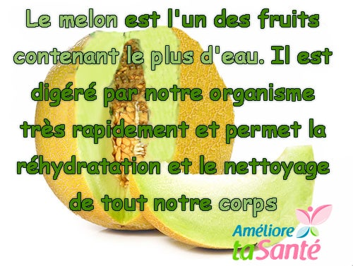Le melon anti-stress.