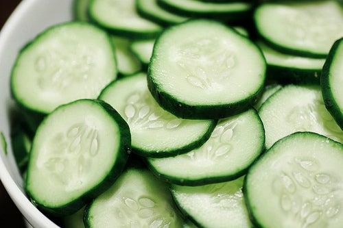 Le concombre pour une peau hydratée.