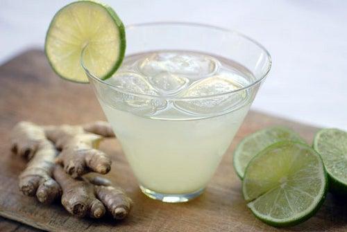 boisson de gingembre et citron