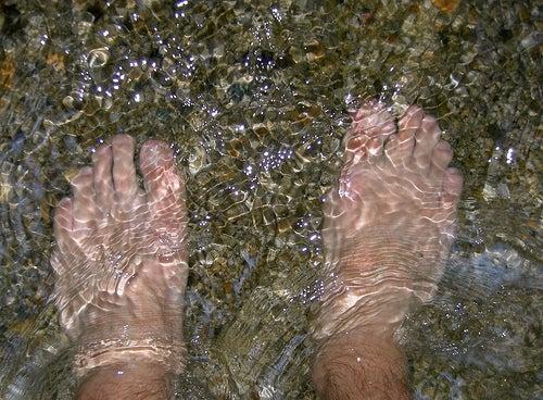 L'eau froide contre les varices.