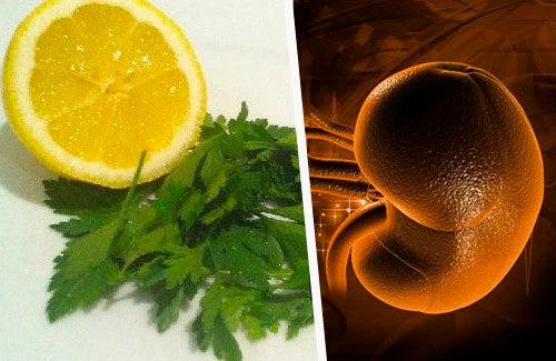 Remède au persil et au citron pour nettoyer les reins