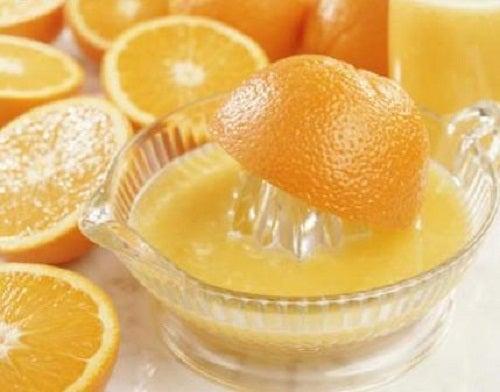 Orange pour votre visage.