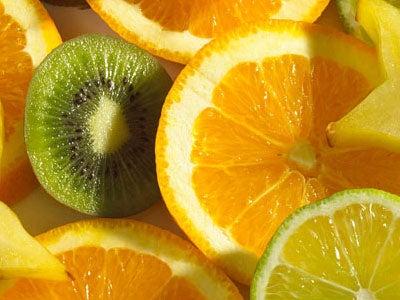 rondelles d'oranges et de kiwi