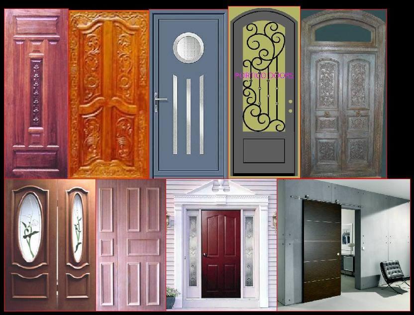 Les portes de maison.