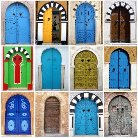 Les portes bleues.