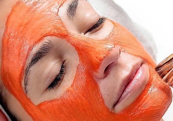 masque à la carotte