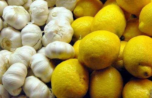 cure à l'ail et au citron