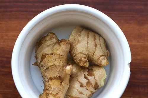 Le gingembre pour soigner une infection.
