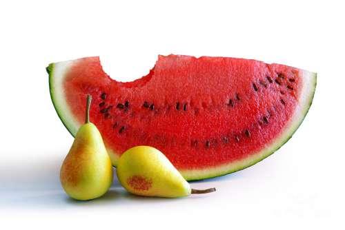 smoothie pastèque, poire, mélisse contre le syndrome de l'intestin irritable