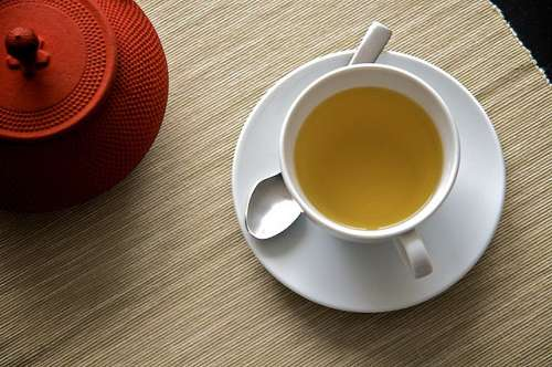 tasse de thé vert
