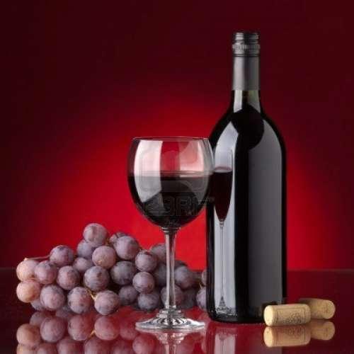 bouteille et raisin