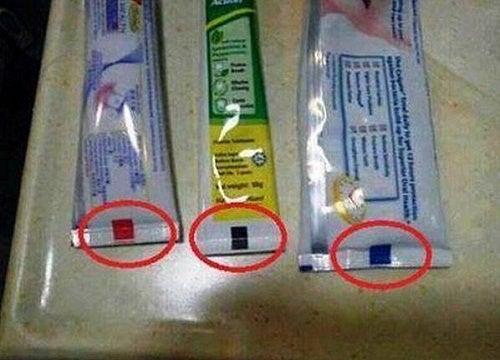 Codes couleurs sur les tubes de dentifrice