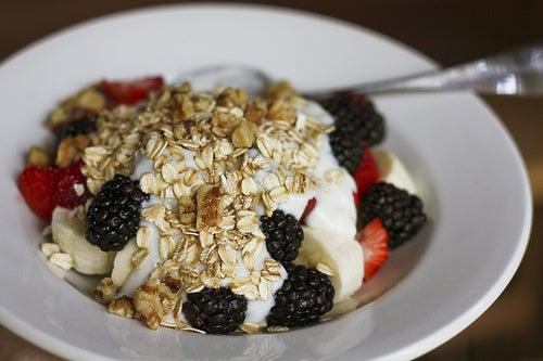 avoines et céréales au petit déjeuner