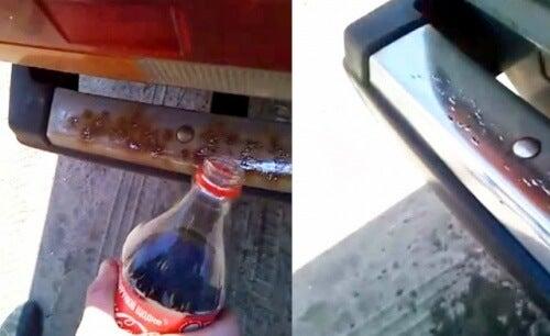 Du coca-cola contre la rouille.