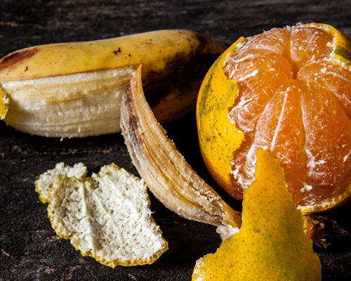 Ne jetez jamais l'écorce d'orange et la peau de banane !