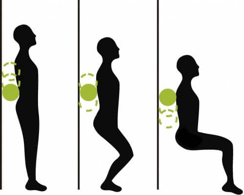 Exercice : chaise contre le mur