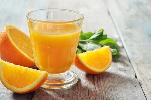 L'orange contre la fatigue.