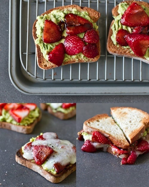 Le sandwich d'avocat aux fraises.