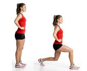 Exercice : fente avant