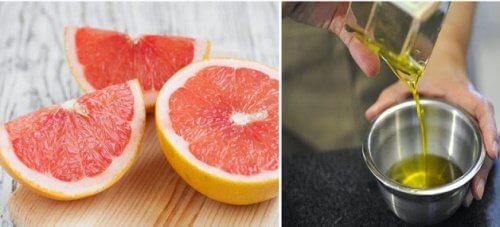 L'huile d'olive et le pamplemousse aide au nettoyage du foie.