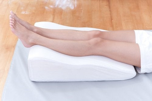jambes élevées