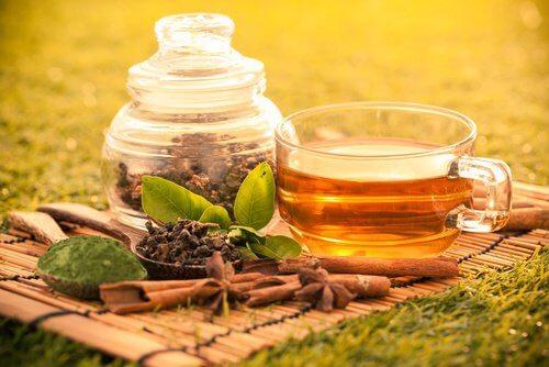 thé vert pour un petit-déjeuner sain