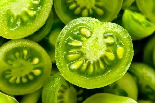 traitement à la tomate verte