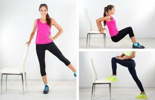 5 exercices avec une chaise pour vous remettre en forme