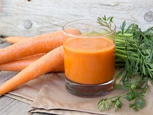 Comment préparer un jus de carotte contre le rhume, la toux et la grippe ?