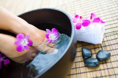 bain de pied relaxant