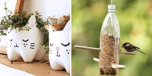 13 manières de réutiliser les bouteilles en plastique