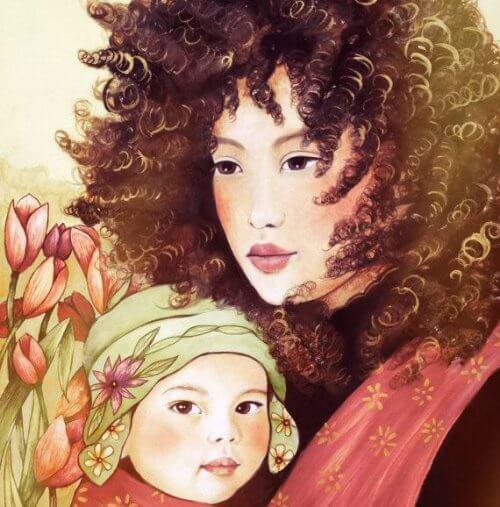 La mère et son enfant.
