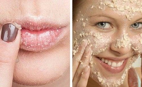 Comment fabriquer un exfoliant naturel pour le visage et des lèvres ?