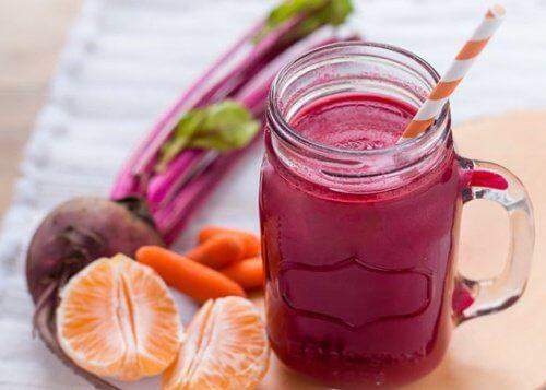 smoothie à la betterave et à la carotte