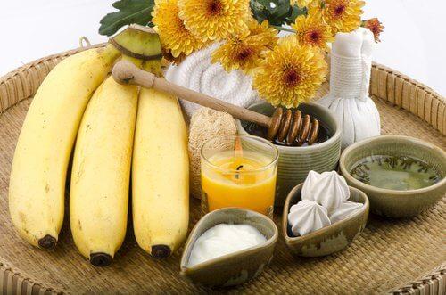 Masque naturel avec de la banane.