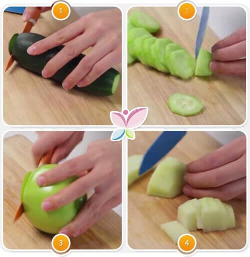 Instructions pour la préparation du jus vert